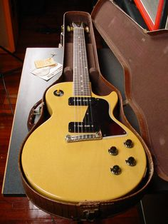 '57 Gibson Les Paul TV Special. This guitar features a solid, flat top…