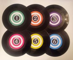 VINTAGE STYLE MOD WEDDING TABLE NUMBER   All Numbers Available   Retro LP Record