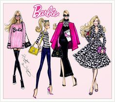 #Hayden Williams Fashion Illustrations #Barbie Style collection by Hayden…