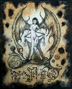 SUCCUBUS cthulhu larp cosplay Necronomicon Fragment demon grimoire witch magick