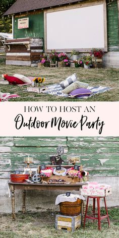How to organize a party at the outdoor cinema summer outdoor activities Backyard Movie Party, Outdoor Movie Party, Backyard Movie Theaters, Outdoor Movie Screen, Backyard Movie Nights, Outdoor Movie Nights, Outdoor Cinema, Best Outdoor Movie Projector, Outdoor Party Foods