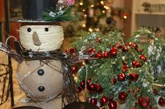Snowman and Bell Trees & Wreaths!