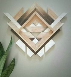 Decorative Rocks Ideas : Geometric Wood Wall Art by Amanda Millner McAdoo