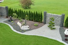 Gartenumrandung mal modern! Gefunden bei http://nomadx.info/stelen-im-garten-gestalten/