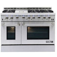 """NXR-PRO 48"""" Professional Style GAS Range in Stainless Steel 