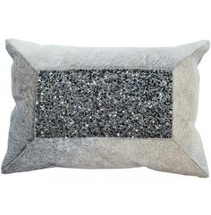 Hairon Hide with Beads Pillow