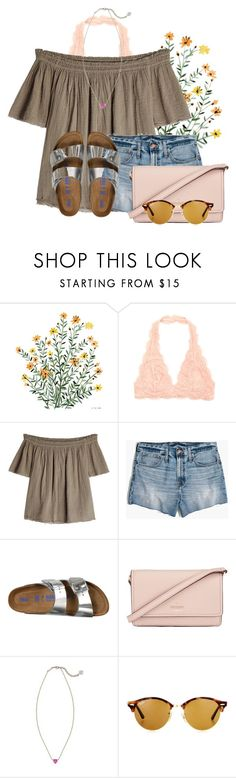 """In a world full of trends remain a classic"" by flroasburn ❤ liked on Polyvore featuring Velvet, Madewell, Birkenstock, Kate Spade, Kendra Scott and Ray-Ban"