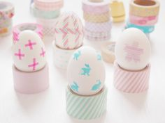 DIY washi tape Easter Eggs.