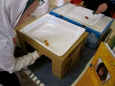 Irresistible Ideas for play based learning » Blog Archive » DIY magnetic table