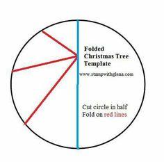 Gevouwen kerstboom