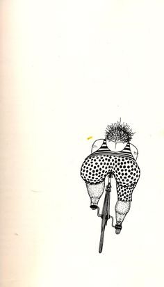 Illustration by Rick Morrall, from Anybody's Bike Book... This is what I feel like riding a bike at times! When will a bike come out with bucket seats?! Lol! 😝