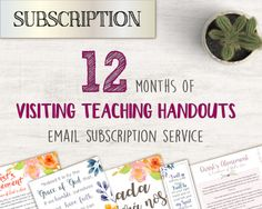 Subscription LDS Visiting Teaching handout Relief by Recathi