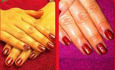 Classic red gelish nails