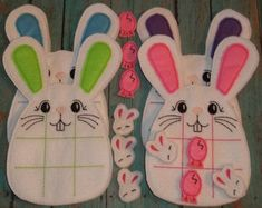 Easter Bunny Tic Tac Toe Game embroidered Valentine Day Board Games Educational Games Travel game for kid toddler quiet book presechool toy by cabincraftycreations on Etsy Easter Crafts, Crafts For Kids, Tic Tac Toe Game, Tic Toe, Felt Games, Sleeping Bunny, Mobiles, Bunny Face, Book Quilt