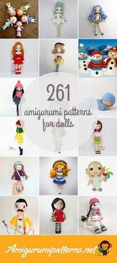 261 Dolls Amigurumi Patterns Crotchet Patterns, Amigurumi Patterns, Amigurumi Doll, Doll Patterns, Crochet Fairy, Kawaii Crochet, Chinese Dolls, Crochet Books, Crochet World