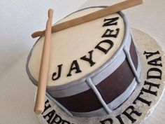 The drummer cake