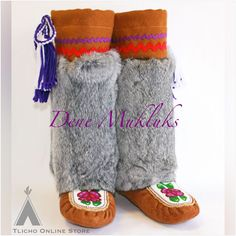 #Beautiful #Dene #moccasin #mukluks made by #Tlicho from #Behchoko on http://onlinestore.tlicho.ca