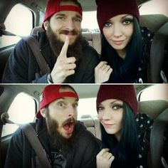 How to get hubby @dochollywood710  to shovel the driveway? Nothing just wait for him to run out of ice cream  #thehollywoodz #stonercouple #denverlove #denverliving #bluehair #greenhair #alternative #snowedin #snowday #colorado #denver #beardlove #beard #beardlife #carselfie #coupleselfie #blizzard2016 #blizzard by bettejeansuicide