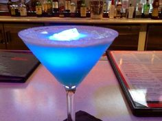 Blue Glowtini Recipe served at Fifties Prime Time Cafe in Hollywood Studios at Disney World
