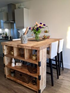 Industrial Mill Style Reclaimed Wood Kitchen Island