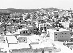 Bethlehem - بيت لحم : PALESTINE - Bethlehem, partial view as seen from the Spire of the Basilica of the Nativity, 1939- 45