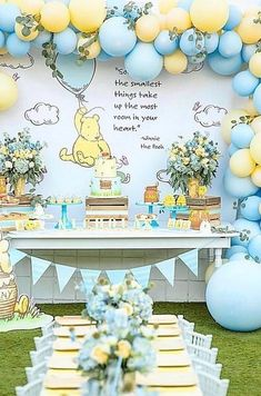 Baby Shower Decorations Winnie The Pooh.Baby Shower Centerpiece Classic Winnie The Pooh By . Pretty Winnie The Pooh Baby Shower Ideas POPSUGAR Family . Winnie The Pooh Stickers Cupcake Toppers Birthday Party . Home and Family Winnie The Pooh Themes, Winnie The Pooh Birthday, 1st Boy Birthday, 1st Birthday Party Ideas For Boys, Baby Birthday Themes, Baby Birthday Parties, Diy Birthday, Prince Birthday Party, Winnie The Pooh Cake
