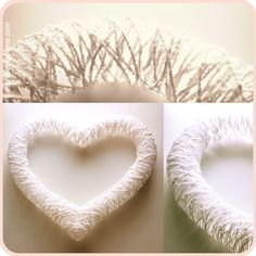 heart wreath with ribbon   String it up with a ribbon, place it in a window and let the sun beam ...