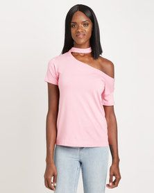 Utopia One Shoulder Slouchy Top Pink One Day Only, Shirt Blouses, Shirts, One Shoulder, V Neck, Lady, Pink, Shopping, Tops