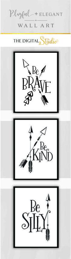 Modern Nursery Wall Art, Black and white Nursery Art, Arrow Nursery Decor, Woodland Nursery Decor, Cabin Wall Art, Tribal Nursery, Camping Nursery