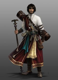 male traveller / adventurer with travelling gear fantasy RPG character NPC to meet on the road / in a tavern? Fantasy Character Design, Character Creation, Character Design Inspiration, Character Concept, Character Art, Concept Art, Fantasy Inspiration, Anime Art Fantasy, Fantasy Male