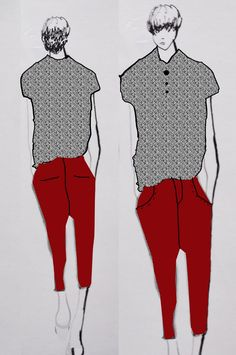 Image result for fashion illustration collage mens