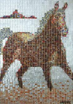 Aluminum can mosaic