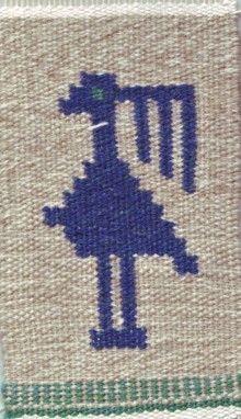 From my blog. Flemish weaving. A bird.