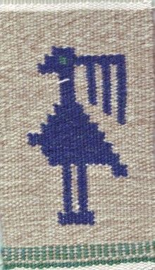 From my blog. Flemish weaving. A bird.