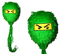 PINIATA+NINJAGO+zielony+++KIJ+++OPASKA++/+PINATA+w+hanako-design+na+DaWanda.com