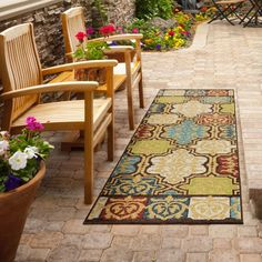 Our Yonder Multi Area rug showcases fresh, bright hues of nature. The collection offers a stylish modern design and vibrant colors that will instantly update any indoor or outdoor space.