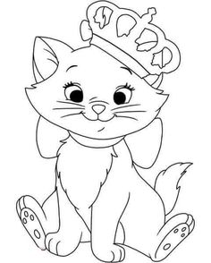 Disney Animals Coloring Book Luxury Disney Aristocats Marie Coloring Pages Snow White Coloring Pages, Cat Coloring Page, Cartoon Coloring Pages, Christmas Coloring Pages, Free Coloring Pages, Coloring Books, Disney Princess Coloring Pages, Disney Princess Colors, Disney Princess Drawings