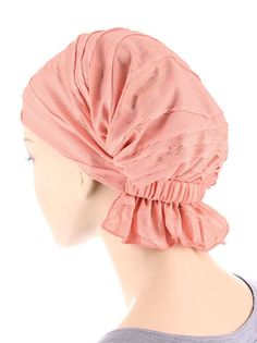 ABBEY-589#The Abbey Cap in Crushed Peach with Gold