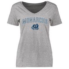 Old Dominion Monarchs Women's Proud Mascot Slim Fit T-Shirt - Ash - $21.99