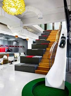 creative breakout space in an office