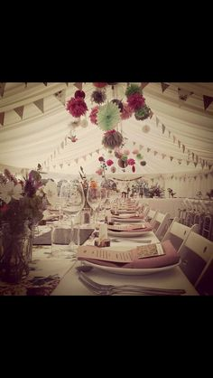 Bunting and Pom Poms