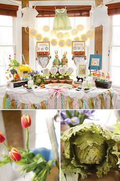 Love the idea of a Peter Rabbit Baby Shower in Spring!