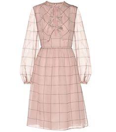 e04636f63c77 VALENTINO 2017-18AW A-line Silk Long Sleeves Medium Dresses