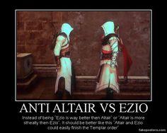 Anti Altair Vs Ezio. by JohnnyTlad.deviantart.com on @deviantART