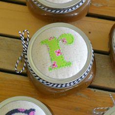Appliqué mason jar lids... - Jacks and Kate