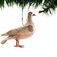 Pink Pigeon Dresden Christmas Ornament