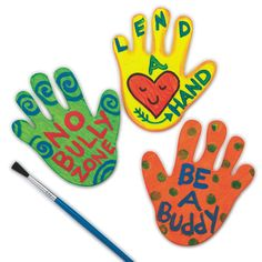 Lend a Hand to stop bullying. These were so cute and easy to make.