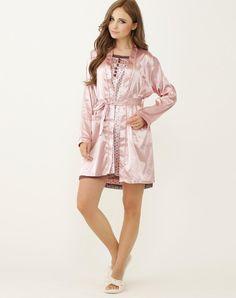 VIPme (VIPSHOP Global) - MEILAIYA Pink Elegant Spring/Fall Polyester Mid-Length Sleep & Lounge - AdoreWe.com