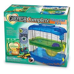 Carefresh Hamster Kit Carefresh Food And Bedding For A Long Healthy Life Includes food dish, water bottle, and chew treats