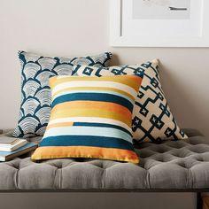 Deco Pillow Cover Trio - Blue Lagoon | West Elm